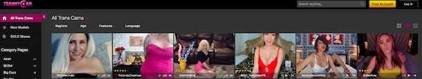 Trannycam.com Live Trans Chat Site